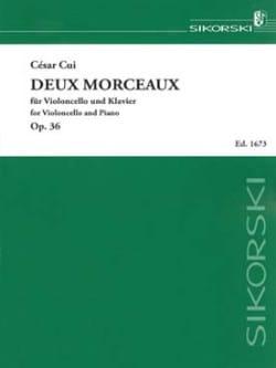 Deux morceaux Op. 36 César Cui Partition Violoncelle - laflutedepan