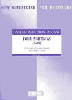 Four Sinfonie Bartolomeo Montalbano Partition laflutedepan