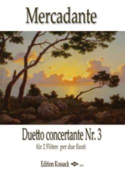 Saverio Mercadante - Duetto concertante n° 3 - Partition - di-arezzo.fr