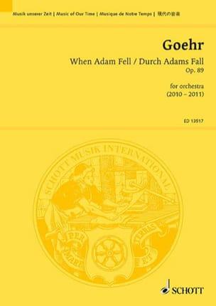 Alexander Goehr - When Adam Fell, op. 89 - Sheet Music - di-arezzo.com