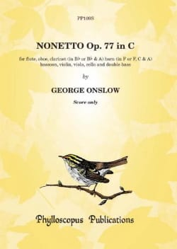 Georges Onslow - Nonett, op. 77 - Score - Partition - di-arezzo.fr