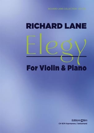 Elegy - Richard Lane - Partition - Violon - laflutedepan.com