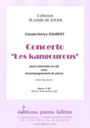 Claude-Henry Joubert - Concerto The Kangaroos - Sheet Music - di-arezzo.com