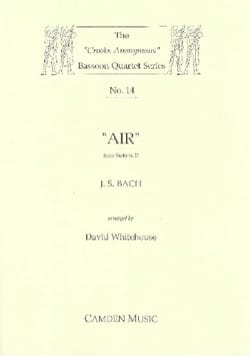 Air From Suite in D - BACH - Partition - Basson - laflutedepan.com