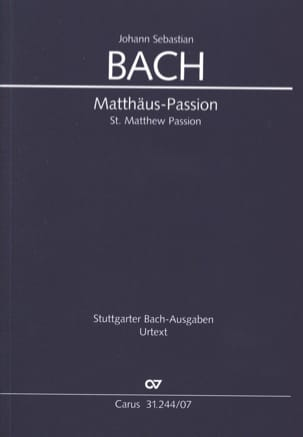 BACH - St. Matthew Passion - Sheet Music - di-arezzo.com