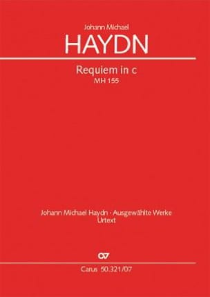 Michael Haydn - Requiem In C Minor - Sheet Music - di-arezzo.com