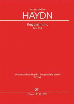 Michael Haydn - Requiem en ut mineur - Partition - di-arezzo.fr