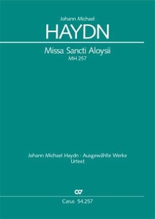 Michael Haydn - Missa Sancti Aloysii MH257 - Partition - di-arezzo.fr