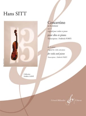 Hans Sitt - Concertino in A minor op 31 - Sheet Music - di-arezzo.co.uk