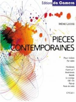 Pièces Contemporaines pour Violon Irène Lecoq Partition laflutedepan