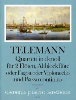 TELEMANN - Quatuor en ré mineur pour 3 Flûtes et BC - Partition - di-arezzo.fr