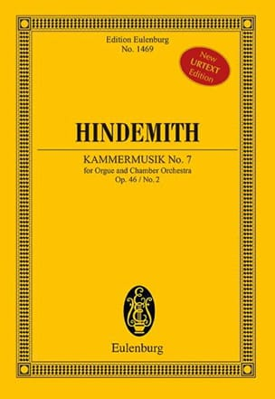 Paul Hindemith - Kammermusik No. 7, op. 46/2 - Partition - di-arezzo.fr