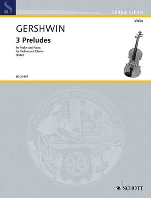 3 Préludes GERSHWIN Partition Violon - laflutedepan