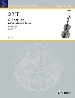 Carl Orff - O Fortuna - Partition - di-arezzo.fr