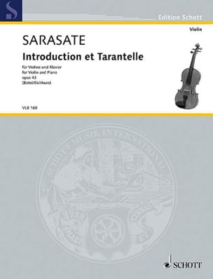 Introduction et Tarantelle, op. 43 SARASATE Partition laflutedepan