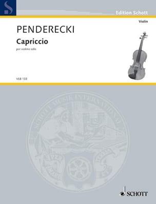 Krzysztof Penderecki - capricho - Partition - di-arezzo.es