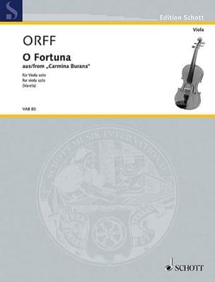 Carl Orff - O Fortuna - Partition - di-arezzo.fr