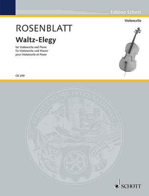 Waltz-Elegy Alexander Rosenblatt Partition Violoncelle - laflutedepan