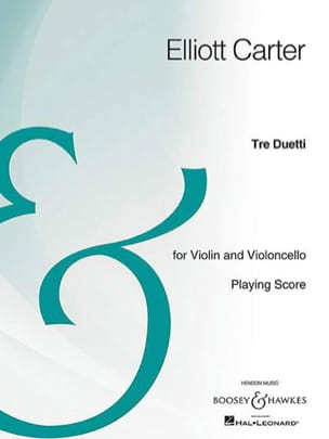 Tre Duetti Spielpartitur Elliott Carter Partition 0 - laflutedepan