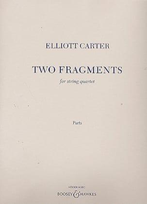 Two Fragments - Elliott Carter - Partition - laflutedepan.com