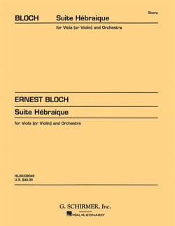 Ernest Bloch - Suite Hebraique - Partition - di-arezzo.fr