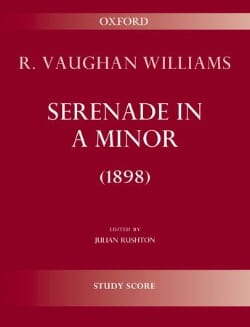 Williams Ralph Vaughan - Serenade in A minor 1898 - Sheet Music - di-arezzo.co.uk