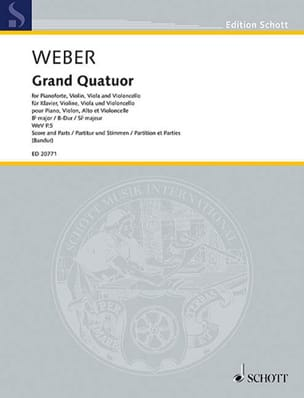 Carl Maria von Weber - Grand Quartet in B flat major - Sheet Music - di-arezzo.co.uk