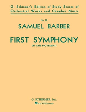Samuel Barber - Symphony No 1 op 9 in one movement - Sheet Music - di-arezzo.co.uk
