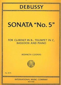 DEBUSSY - Sonata N ° 5 - Sheet Music - di-arezzo.co.uk