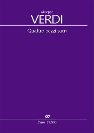 Giuseppe Verdi - Quattro pezzi sacri - Partition - di-arezzo.fr