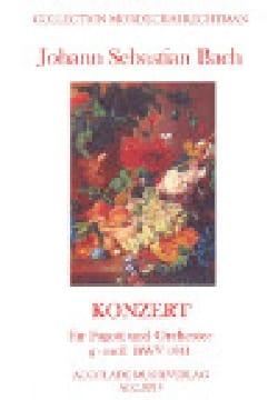 BACH - Concerto for Fagott und orchester g-moll BWV 1041 - Sheet Music - di-arezzo.com