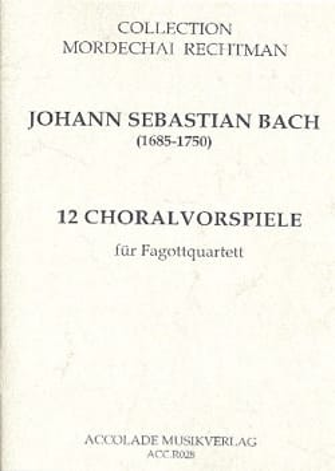 BACH - 12 Choralvorspiele - Partitur mit Stimmen - Sheet Music - di-arezzo.com