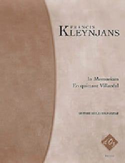 Francis Kleynjans - In memoriam / en quittant Villaréal - Partition - di-arezzo.fr