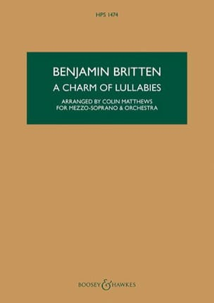 Benjamin Britten - A Charm of Lullabies - Partition - di-arezzo.fr