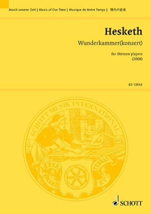 Kenneth Hesketh - Wunderkammerkonzert - Partition - di-arezzo.fr
