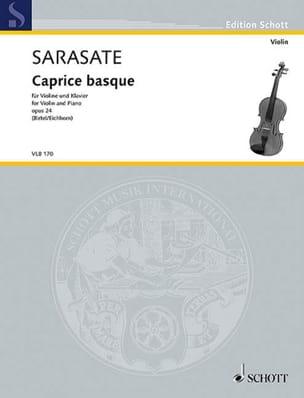 Pablo de Sarasate - Caprice basque, op. 24 - Partition - di-arezzo.fr
