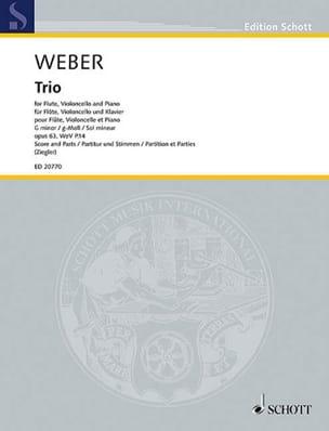 Carl Maria von Weber - Trio en sol mineur, op. 63 - Partition - di-arezzo.fr