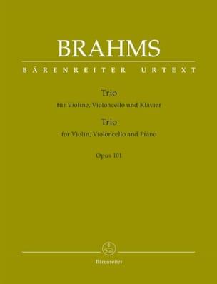 BRAHMS - Trio pour violon, violoncelle et piano, op. 101 - Partition - di-arezzo.fr