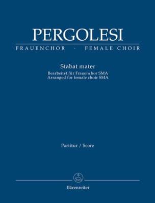 Giovanni Battista Pergolesi - Stabat Mater - Partition - di-arezzo.fr