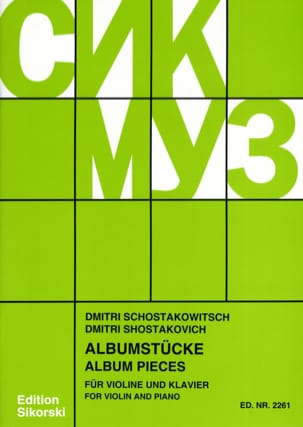 CHOSTAKOVITCH - Albumstücke - Sheet Music - di-arezzo.co.uk