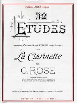 Cyrille Rose - 32 études (CD inclus) - Partition - di-arezzo.fr