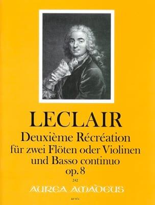 Jean-Marie Leclair - Deuxième Récréation op 8 fur 2 Floten und Bc. - Partition - di-arezzo.fr