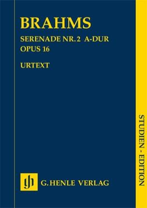 BRAHMS - Sérénade n° 2 en La majeur op. 16 - Partition - di-arezzo.fr