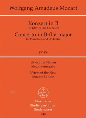 Klavierkonzert B-Dur Kv 450 - MOZART - Partition - laflutedepan.com