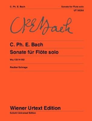 Carl Philipp Emanuel Bach - Sonata en la mineur pour flûte solo, Wq 132/H 562 - Partition - di-arezzo.fr