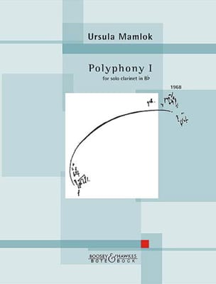 Ursula Mamlok - Polyphony 1 - Partition - di-arezzo.fr
