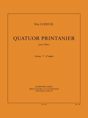Quatuor printanier - Eric Ledeuil - Partition - laflutedepan.com