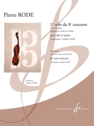 Pierre Rode - 1st solo of the 8th concerto in A minor - Sheet Music - di-arezzo.co.uk