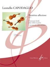 Leonello Capodaglio - Premières affections, opus 169 - Partition - di-arezzo.fr