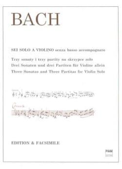 BACH - 3 sonates et 3 partitas, BWV 1001-1006 - Partition - di-arezzo.fr